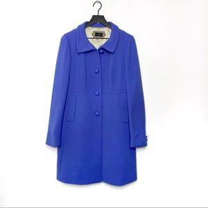 J. Crew Carlin Button Periwinkle Coat